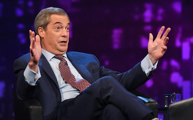 Nigel Farage on Piers Morgan's Life Stories - Credit: Kieron McCarron/ITV