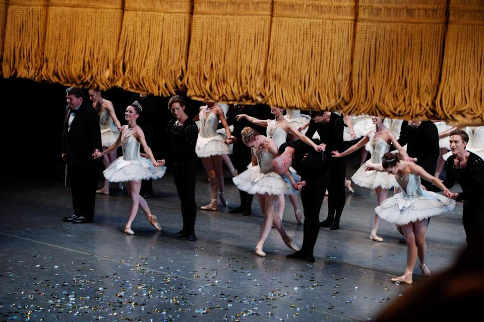 The close of Tuesday's performance by the New York City Ballet. - Credit: Lexie Moreland/WWD