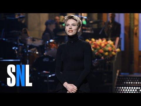 """<p>Having hosted <em>SNL</em> for a fifth time in March 2017, Johansson returned for a <a href=""""https://www.harpersbazaar.com/celebrity/latest/a9902847/scarlett-ivanka-cold-open/"""" target=""""_blank"""">cameo on the show's season finale</a> in May. According to <em><a href=""""https://pagesix.com/2017/05/21/scarlett-johansson-hooks-up-with-snl-weekend-update-host-colin-jost/"""" target=""""_blank"""">Page Six</a></em>, the actress' romance with writer Colin Jost was confirmed by multiple sources who saw them kissing at the show's afterparty. An alleged witness told the publication, """"Scarlett and Colin were making out at the bar at the <em>SNL</em> season finale party... They would make out a bit, then go back to talking. They were at the bar in front of everyone... they made out at least twice.""""</p><p><a href=""""https://www.youtube.com/watch?v=0MN1LRL3vdw"""">See the original post on Youtube</a></p>"""