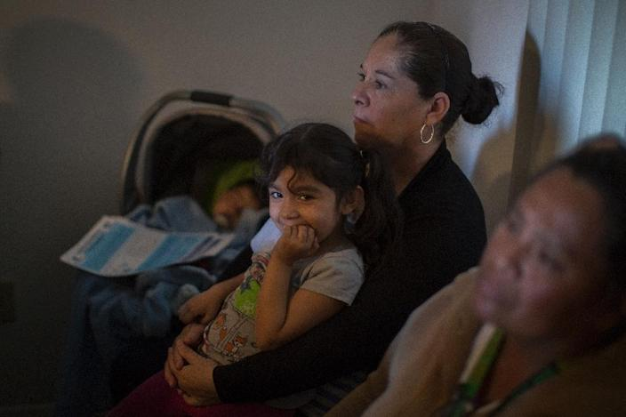 Immigrants in California live in constant fear that they, or a relative, could fall victim to President Donald Trump's immigration crackdown (AFP Photo/DAVID MCNEW)