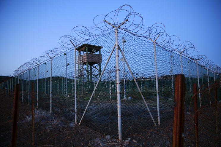 A deserted guard tower is seen at Joint Task Force Guantanamo's Camp Delta last year. (Lucas Jackson/Reuters)