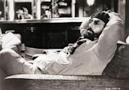 <p>Coppola relaxes for a minute while on the set of the second installment of the franchise. </p>