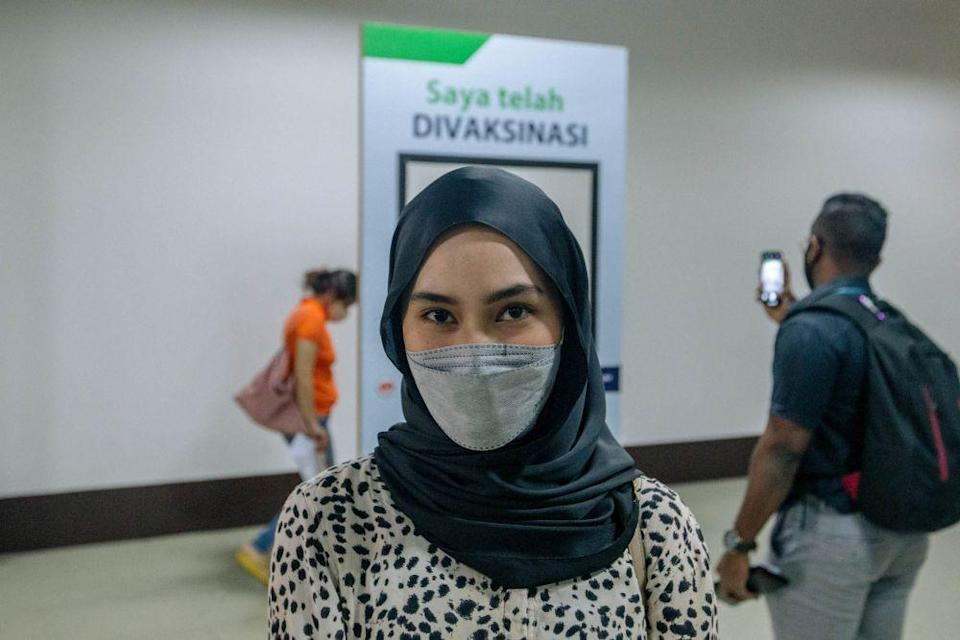 Maryam Fatimah, 26 speaks to Malay Mail during an interview at the World Trade Centre Kuala Lumpur May 16, 2021. — Picture by Firdaus Latif