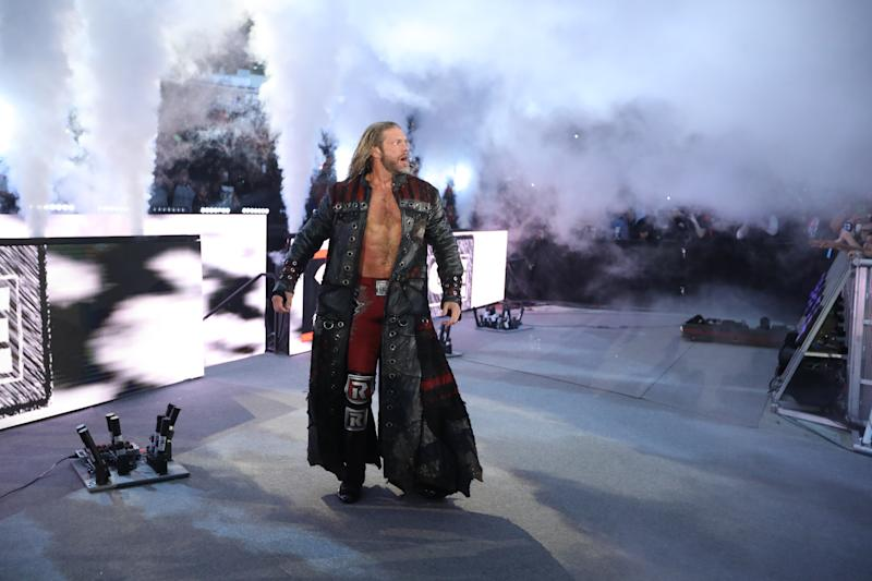 Adam 'Edge' Copeland returns to WWE at the Royal Rumble in Houston, Tx. (Photo Courtesy of WWE)