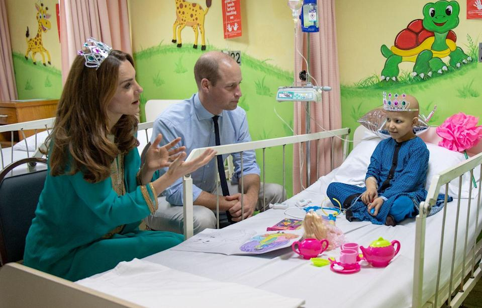 <p>Kate put on a very special tiara during her visit with a patient at a cancer hospital in Lahore, Pakistan.</p>