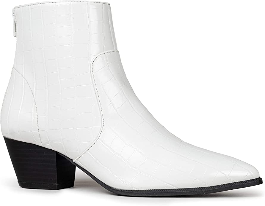 """<br><br><strong>Qupid</strong> Pointed Toe Bootie, $, available at <a href=""""https://amzn.to/3kl1vGJ"""" rel=""""nofollow noopener"""" target=""""_blank"""" data-ylk=""""slk:Amazon"""" class=""""link rapid-noclick-resp"""">Amazon</a>"""