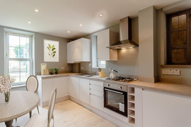 The kitchen in the London flatCourtesy of Raffle House