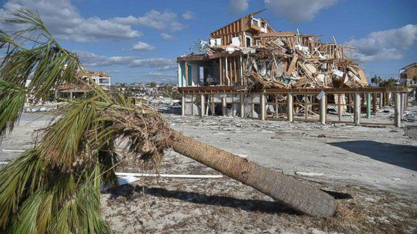 PHOTO: View of the damaged caused by Hurricane Michael in Mexico Beach, Fla, Oct. 13, 2018. (Hector Retamal/AFP/Getty Images)