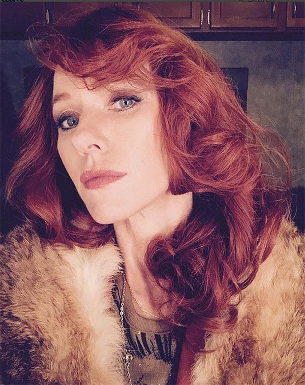 """<br>The actress showed off a bold red look on Instagam, from the set of her new film <i>The Bleeder</i> which she is filming with partner Liev Schreiber. """"You lookin' at me? First day on set with #LievSchreiber for #TheBleeder #LindaWepner #ChuckWepner #backtowork""""."""