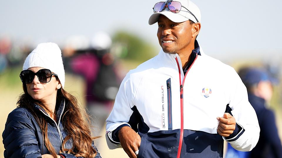 Tiger Woods, pictured here with girlfriend Erica Herman at the Ryder Cup in 2018.