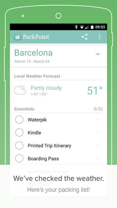 best travel apps packpoint2