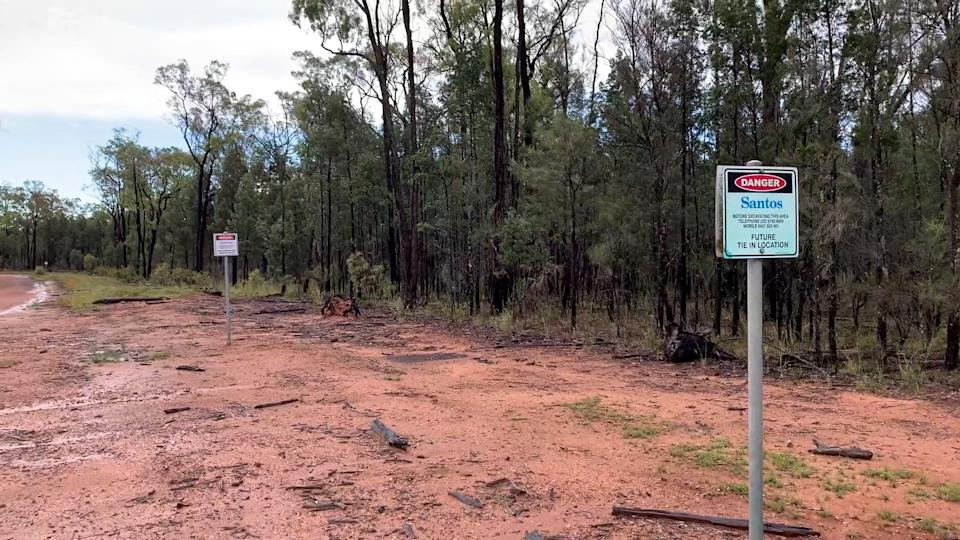Santos plans to drill 850 coal seam gas wells in the catchment area of the Great Artesian Basin. Source: Michael Dahlstrom