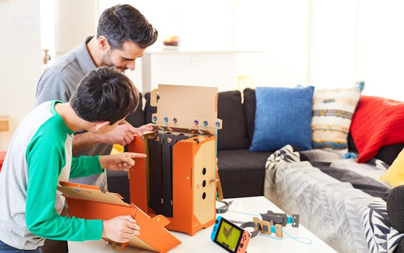 The first Nintendo Labo packs are released for Nintendo Switch on 27 April