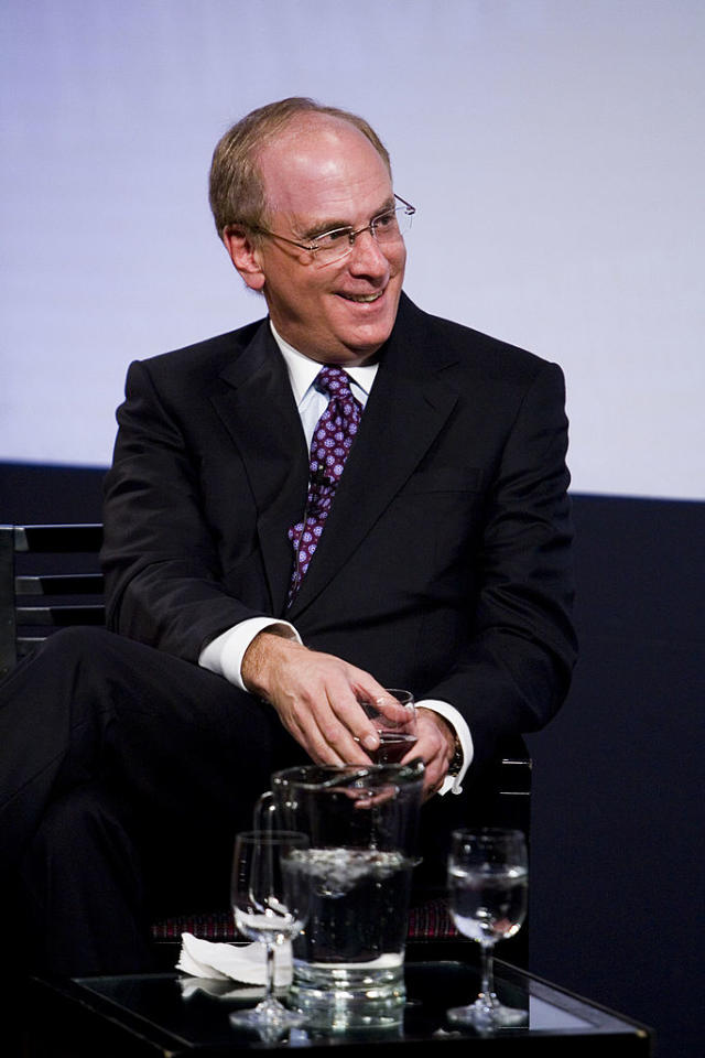 <p>No. 20: University of California, Los Angeles<br />Known UHNW alumni: 235<br />Combined wealth: $63 billion<br />Former grad CEO of BlackRock Larry Fink is seen here.<br />(Photo by Mat Szwajkos/Getty Images) </p>