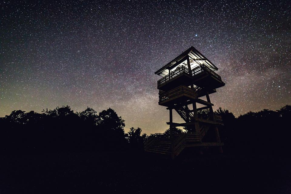<p><strong>Best thing to do in West Virginia:</strong> Spend the night in a treehouse</p> <p>West Virginia is home to some of the best stargazing east of the Mississippi. With 1,500 campsites across 27 state parks and forests, you're spoiled for choice when it comes to sleeping options: set up a tent, park your RV, cozy up in a yurt from Spruce Knob Mountain Center, or even stay in the Thorny Mountain Fire Tower (basically a bug-free treehouse) located at Seneca State Park.</p>