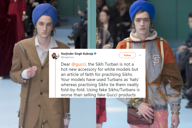 Gucci Uses Turban As Fashion Accessory on Ramp, Gets Slammed on Twitter