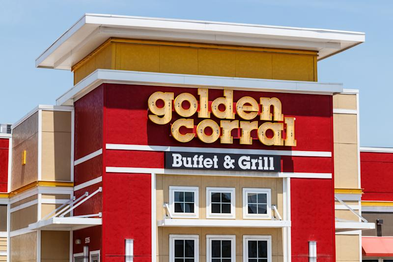 At most locations of Golden Corral, self-serve has shifted to cafeteria-style, where employees serve dishes of food for customers, who aren't allowed to handle serving utensils. (Photo: jetcityimage via Getty Images)