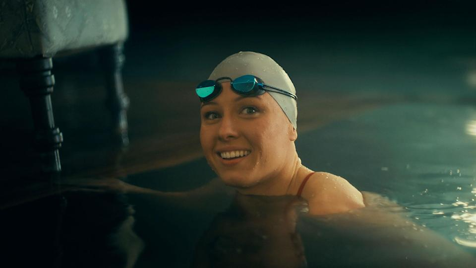 """U.S. Paralympic swimmer Jessica Long holds an astonishing 23 Paralympic medals and is seen in Toyota's Big Game spot """"Upstream."""""""