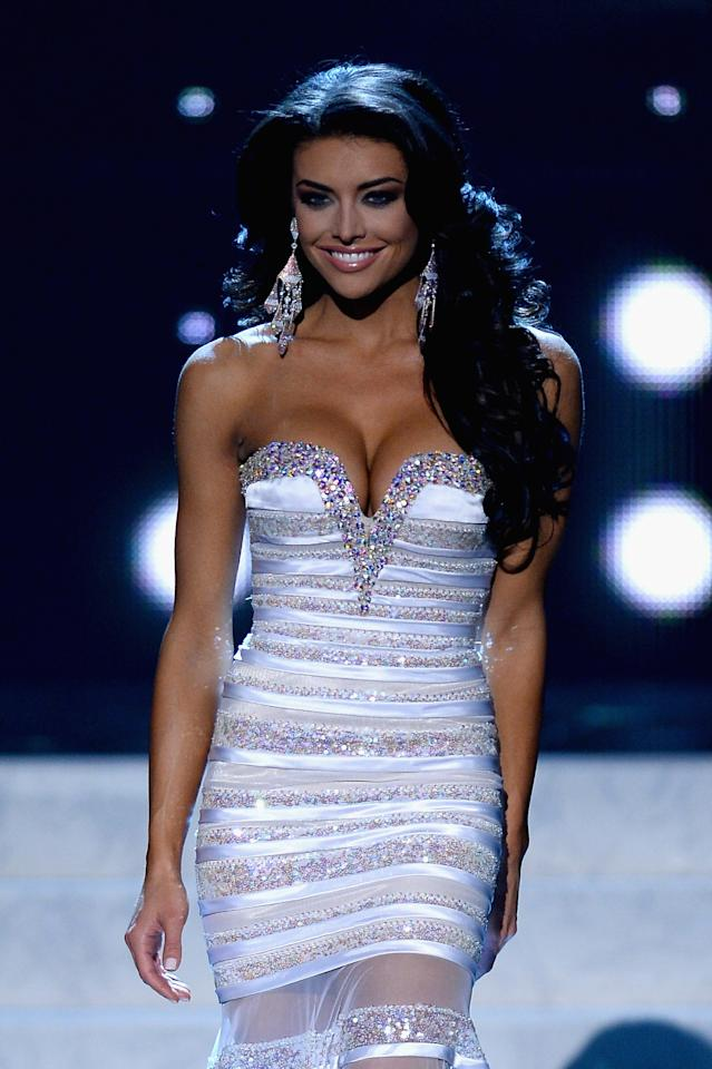 LAS VEGAS, NV - JUNE 16: Miss Utah USA Marissa Powell walks during the 2013 Miss USA pageant at PH Live at Planet Hollywood Resort & Casino on June 16, 2013 in Las Vegas, Nevada. (Photo by Ethan Miller/Getty Images)