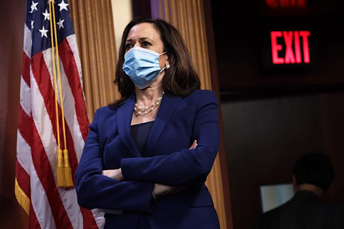 Sen. Kamala Harris, D-Calif., at the Capitol in Washington, D.C., on June 23, 2020.