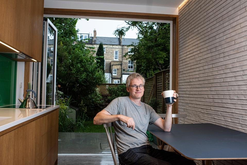 Radical revamp: Jeremy Taylor in his Tufnell Park home (Daniel Hambury/Stella Pictures Ltd)