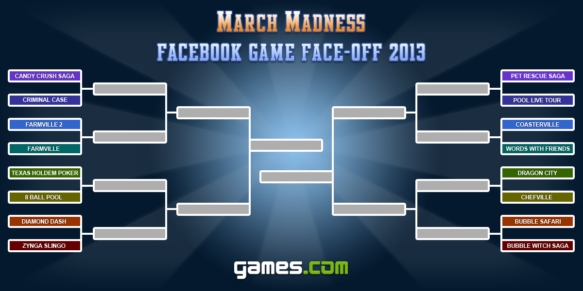 March Madness Facebook Game Facebook Round One