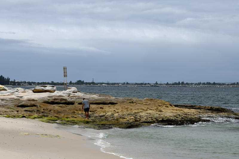 Yarra Bay in La Perouse where there were reports of a baby wrapped in a plastic bag.