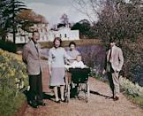 <p>Queen Elizabeth II turns 39. Here, she spends time with Prince Philip, Princess Anne, Prince Edward, and Prince Charles on her birthday at Windsor.</p>
