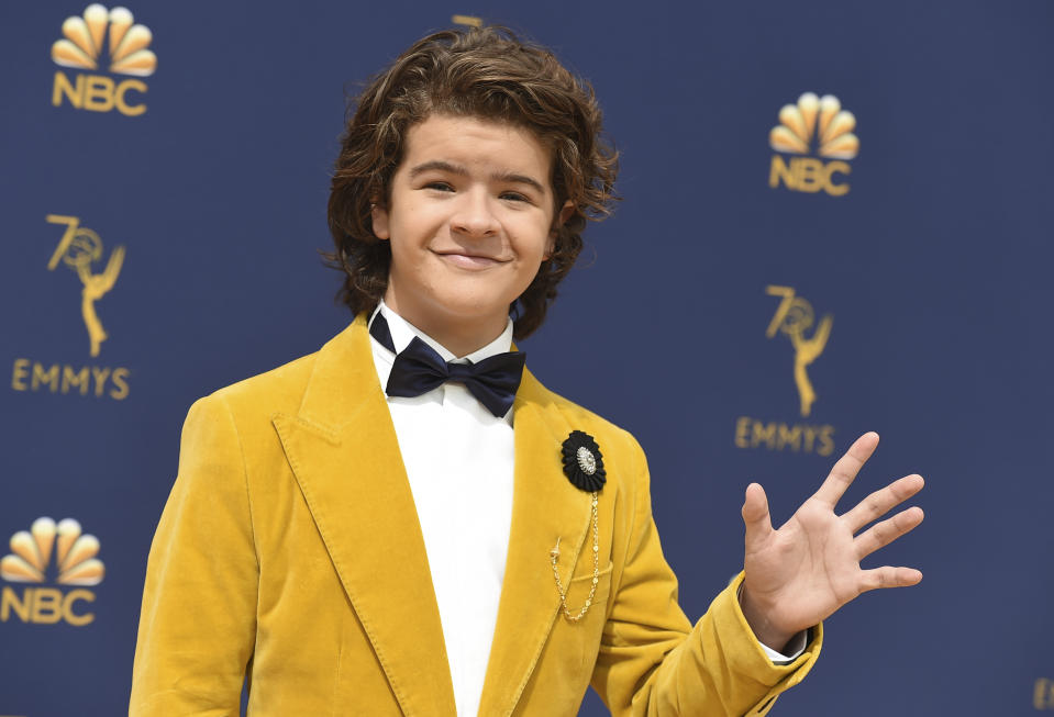 Gaten Matarazzo arrives at the 70th Primetime Emmy Awards on Monday, Sept. 17, 2018, at the Microsoft Theater in Los Angeles. (Photo by Jordan Strauss/Invision/AP)