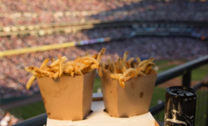 What's more valuable — ballpark fries or a foul ball? (Getty)