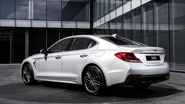 <p>If you want a Genesis G70 with the manual, you will have to opt for the rear-wheel-drive, turbocharged four-cylinder engine model. The engine produces 252 horsepower and 260 pound-feet of torque. Available options include Brembo brakes</p>