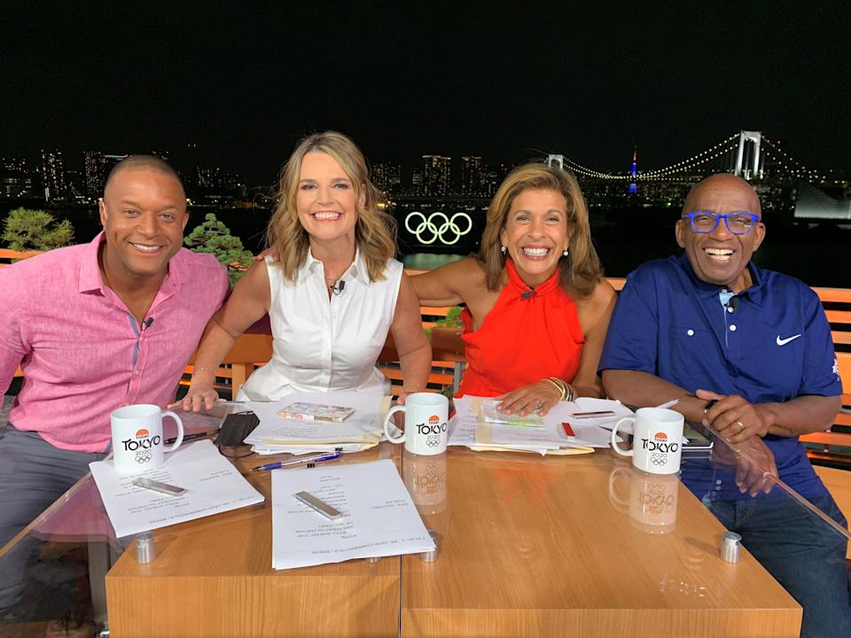 """""""Today"""" co-anchors (from left) Craig Melvin, Savannah Guthrie, Hoda Kotb and Al Roker are in Tokyo to cover the Olympic games."""