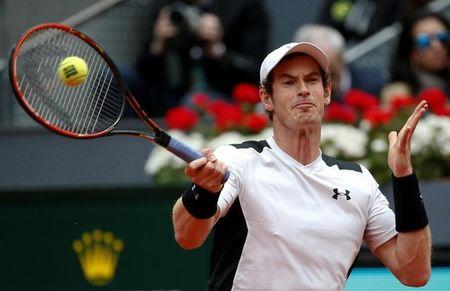 What time is Andy Murray playing Novak Djokovic in the Madrid Open?