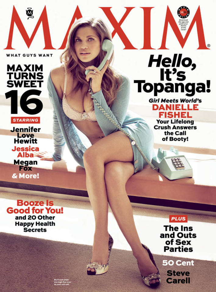 Danielle Fishel in the April issue of Maxim. The issue is on stands March 19th. Exclusive photos on maxim.com