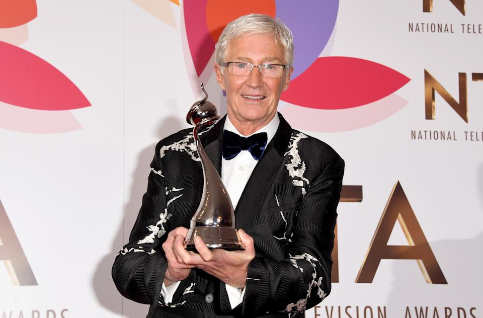 Paul O'Grady during the National Television Awards held at The O2 Arena on January 22, 2019. (Photo by Stuart C. Wilson/Getty Images)