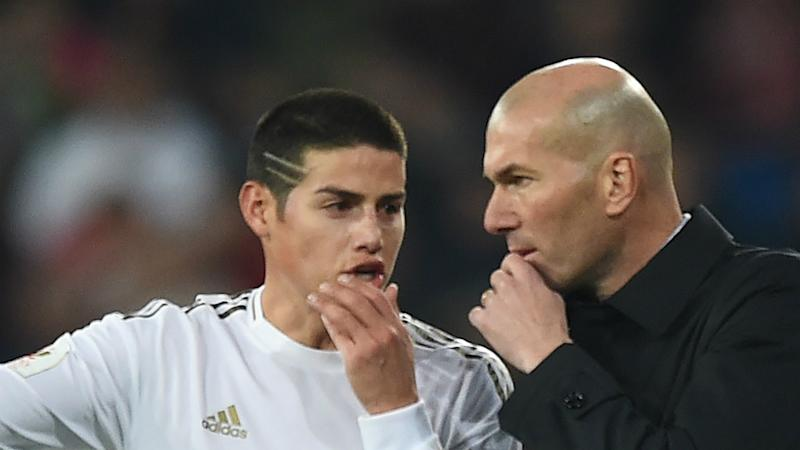 Real Madrid's James gets warm birthday greeting from Zidane but remains out in the cold