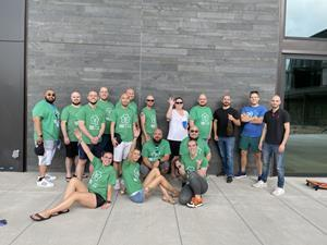 Picture of all Blue participants who shaved their heads