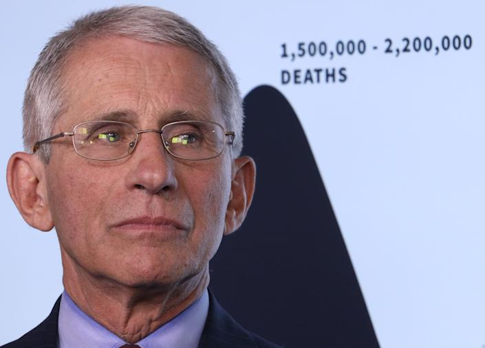 Dr. Anthony Fauci, director of the National Institute of Allergy and Infectious Diseases, said social distancing seems to be working during the COVID-19 pandemic.