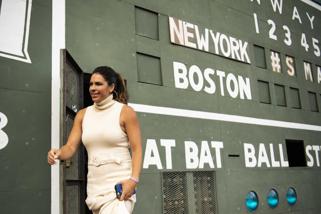 Jessica Mendoza, who is both a Mets adviser and an ESPN analyst and commentator, doesn't approve of the whistleblowing on the Astros sign-stealing scandal. (Photo by Billie Weiss/Boston Red Sox/Getty Images)
