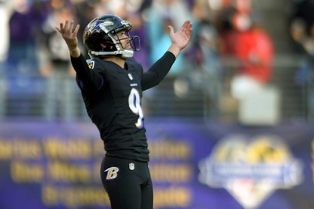 Baltimore Ravens kicker Justin Tucker almost had his team's stadium bought by German investors, except for a government error. (AP)