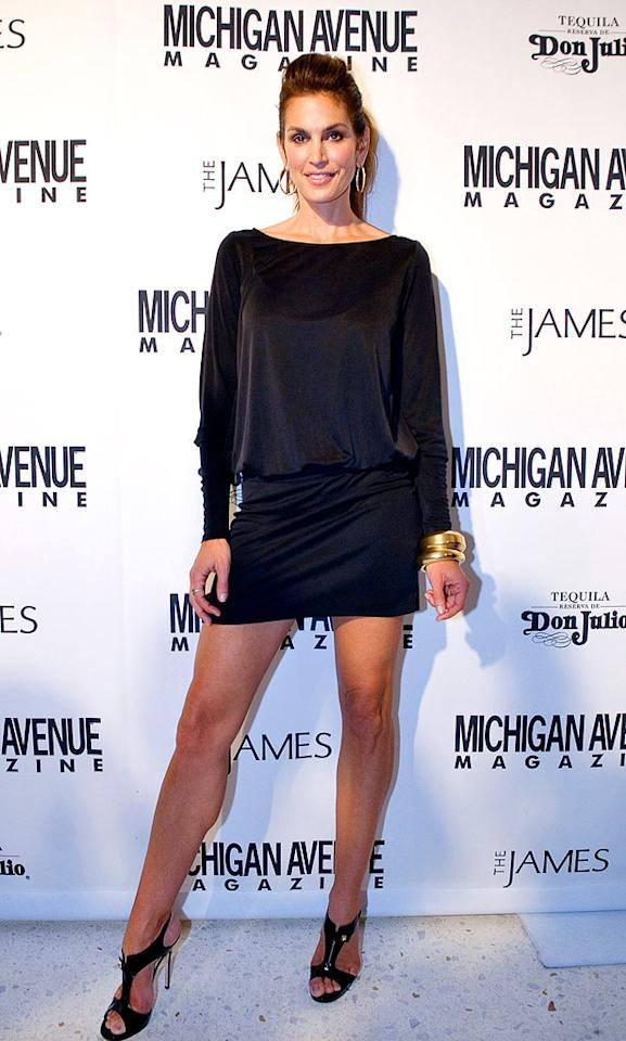 """She may be a runway retiree, but Cindy Crawford will forever be the sexiest supermodel in the business. Lyle A. Waisman/<a href=""""http://www.gettyimages.com/"""" target=""""new"""">GettyImages.com</a> - September 20, 2008"""