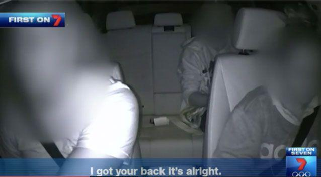 Footage from the Uber drug deal ride. Source: 7News