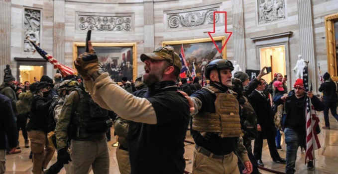 Graydon Young, 54, of Englewood, was arrested alongside eight others in the Capitol Riots last week.