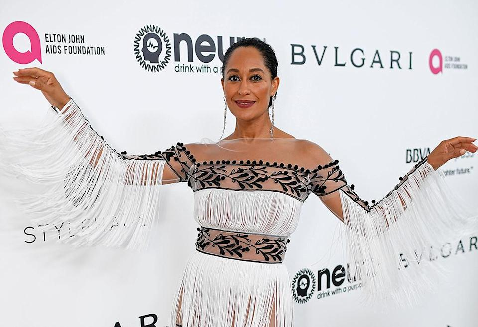 <p>Tracee Ellis Ross attends the 25th Annual Elton John AIDS Foundation's Academy Awards Viewing Party at The City of West Hollywood Park on February 26, 2017 in West Hollywood, California. (Photo by Dimitrios Kambouris/Getty Images for EJAF) </p>