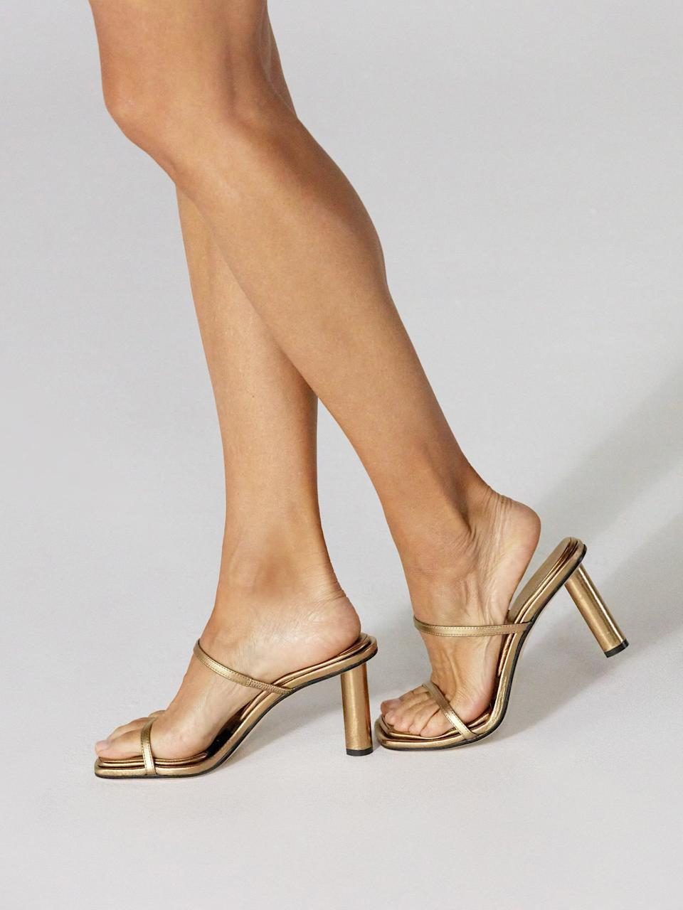 <p>The words heels and comfort are generally antonyms, that is, unless you're talking about the <span>Tamara Mellon Absolute Sandal</span> ($650). This shoe has the brand's signature pillow top insole, which has eight millimeters of memory foam (you know, like what's in your mattress) inserted into the footbed. It also softens to body heat, meaning it will mold to your foot for peak comfort. It doesn't get much better than this.</p>