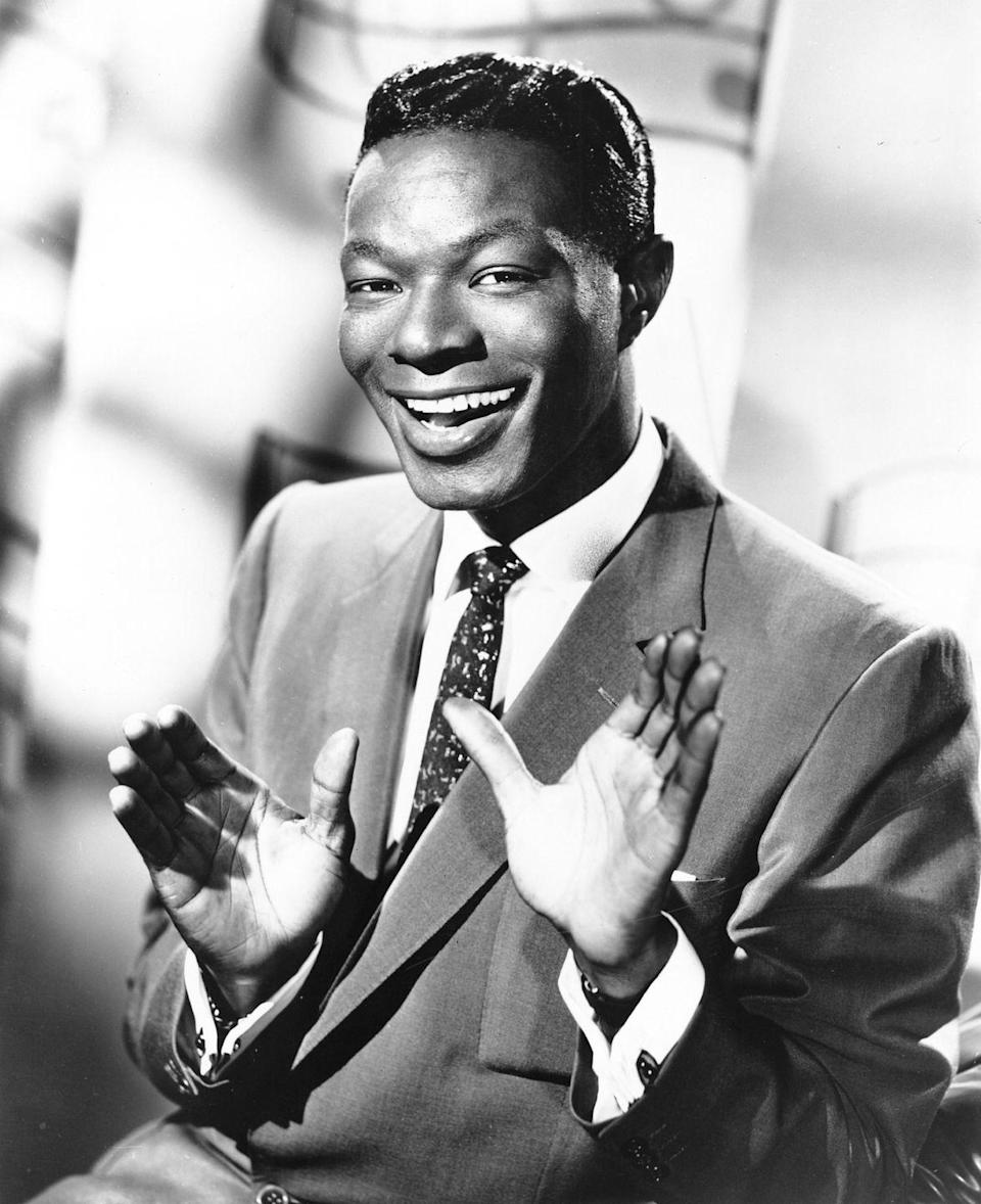 """<p>Everyone knows this holiday song, so it barely needs a name — it's the one where Nat King Cole sings, """"Chestnuts roasting on an open fire."""" It's so popular that it was inducted into the <a href=""""https://www.grammy.com/grammys/awards/hall-of-fame"""" rel=""""nofollow noopener"""" target=""""_blank"""" data-ylk=""""slk:Grammy Hall of Fame"""" class=""""link rapid-noclick-resp"""">Grammy Hall of Fame</a> in 1974. </p><p><a class=""""link rapid-noclick-resp"""" href=""""https://www.amazon.com/dp/B07HBRNFLD?tag=syn-yahoo-20&ascsubtag=%5Bartid%7C10055.g.2680%5Bsrc%7Cyahoo-us"""" rel=""""nofollow noopener"""" target=""""_blank"""" data-ylk=""""slk:AMAZON"""">AMAZON</a> <a class=""""link rapid-noclick-resp"""" href=""""https://go.redirectingat.com?id=74968X1596630&url=https%3A%2F%2Fitunes.apple.com%2Fus%2Fartist%2Fnat-king-cole%2F42616562&sref=https%3A%2F%2Fwww.goodhousekeeping.com%2Fholidays%2Fchristmas-ideas%2Fg2680%2Fchristmas-songs%2F"""" rel=""""nofollow noopener"""" target=""""_blank"""" data-ylk=""""slk:ITUNES"""">ITUNES</a></p>"""