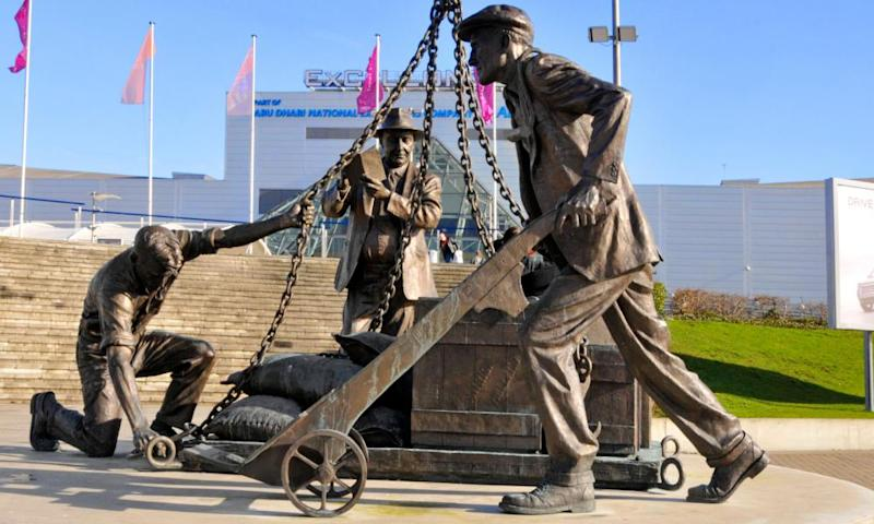The Dockers Statue at the ExCel.