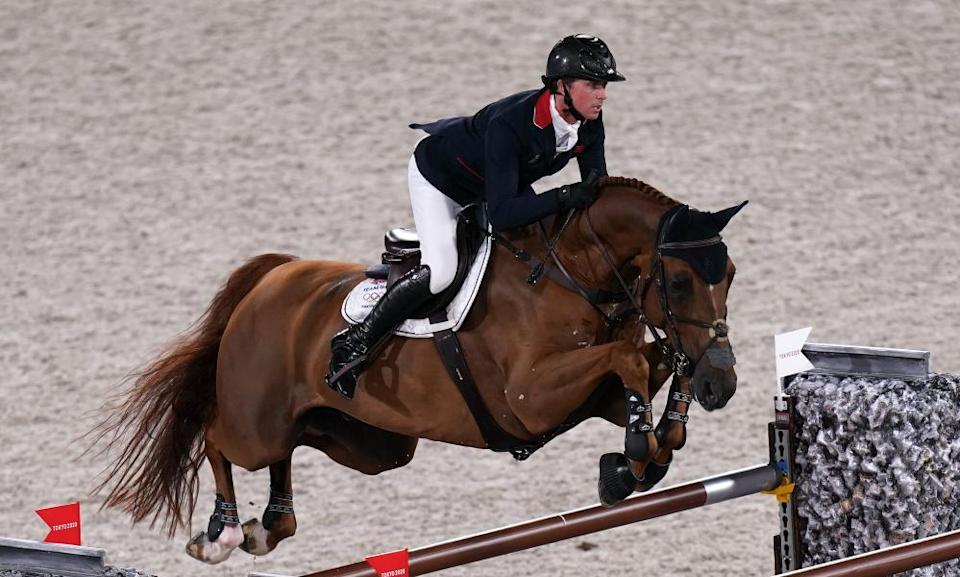 Great Britain's Ben Maher riding Explosion W in the individual jumping.