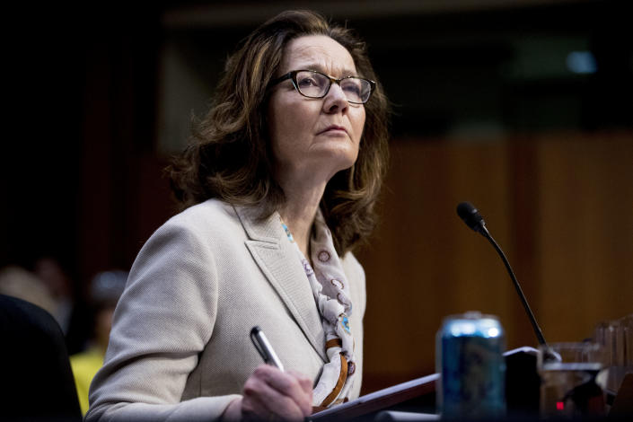 Gina Haspel, President Trump's pick to lead the Central Intelligence Agency, during her confirmation hearing before the Senate Intelligence Committee, May 9, 2018. (Photo: Andrew Harnik/AP)