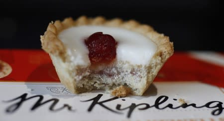 An illustration of a Mr Kipling Cherry Bakewell
